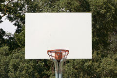 Basketball Hoop With White Backboard Royalty Free Stock Photos