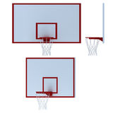 Basketball hoop on white background Royalty Free Stock Photo