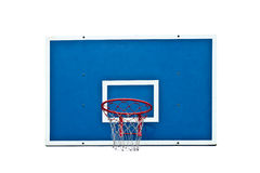 Basketball hoop on white Royalty Free Stock Photography