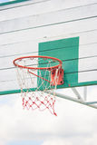 Basketball Hoop. In white and green color Stock Image