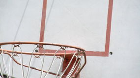 Basketball hoop. Zoomed in view of a basketball hoop Stock Images