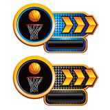 Basketball hoops buttons Royalty Free Stock Photos