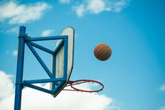 Basketball hoops Stock Images