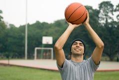 basketball horizontal man smiling Στοκ εικόνα με δικαίωμα ελεύθερης χρήσης