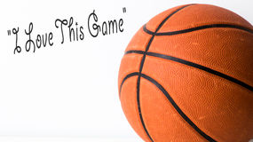 Basketball i love this game Royalty Free Stock Photo