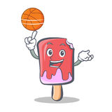 Basketball ice cream character cartoon Royalty Free Stock Images