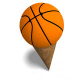 Basketball in an ice cream cone Stock Image