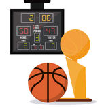 Basketball icon design Royalty Free Stock Photography