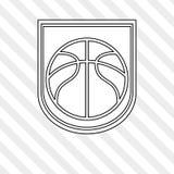 Basketball icon design, vector illustration Royalty Free Stock Image