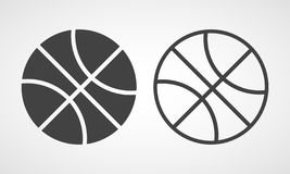 Basketball flat icon . Vector illustration. Basketball icon in flat style. Vector illustration. Gray Basketball icon isolated stock illustration