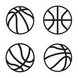 Basketball icon in four variations. Vector eps 10. Stock Images