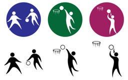 Basketball icon set. Stock Image