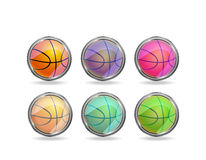 Basketball icon set Stock Photos
