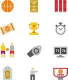 Basketball icon set Stock Photo
