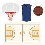 Basketball  icon set Stock Photos