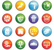 Basketball icon set. Basketball  icons for user interface design Stock Images