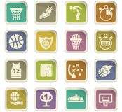 Basketball icon set. Basketball  icons for user interface design Royalty Free Stock Images