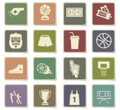 Basketball icon set. Basketball  icons for user interface design Royalty Free Stock Image