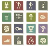 Basketball icon set. Basketball  icons for user interface design Royalty Free Stock Photo