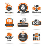 Basketball icon set - 2 Stock Photos