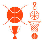 Basketball. Icon set Stock Photography
