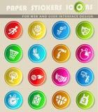 Basketball icon set Stock Image