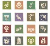 Basketball icon set Royalty Free Stock Image
