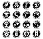 basketball icon set Stock Images