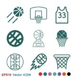 Basketball icon vector in trendy flat style isolated on background. Basketball icon vector, in trendy flat style isolated on white background. basketball icon vector illustration