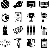 Basketball icons Stock Photos