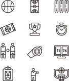 Basketball icons Royalty Free Stock Photos