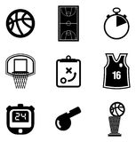 Basketball Icons Royalty Free Stock Photography