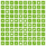 100 basketball icons set grunge green. 100 basketball icons set in grunge style green color  on white background vector illustration Royalty Free Stock Photos