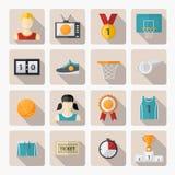 Basketball Icons  set Royalty Free Stock Image