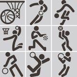 Basketball icons Royalty Free Stock Photos