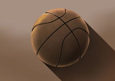 Basketball illustration in beautiful lighting long shadow Stock Image