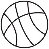 Basketball. Illustration of a simple line basketball drawing Royalty Free Stock Photos