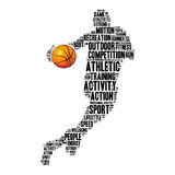 Basketball info-text graphics Royalty Free Stock Photos