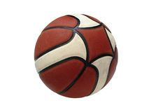 Basketball isolated. Photo of Basketball ball isolated in white background Stock Photography