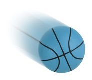 Basketball isolated. On the white Royalty Free Stock Image