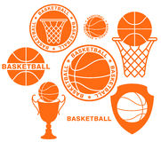 Basketball. Isolated objects on white background. Vector illustration (EPS 10 Royalty Free Stock Image