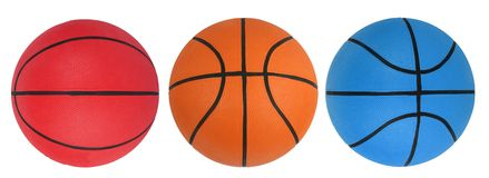 Basketball isolated on the whi Royalty Free Stock Photography