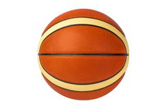 Basketball isolated on white background, both sporty and fitness symbol. Basketball isolated on a white background as a sports and fitness symbol of a team Stock Photography
