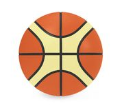 Basketball Isolated. On white background. 3D render Royalty Free Stock Photos