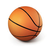 Basketball isolated on white background. 3d. Royalty Free Stock Photos
