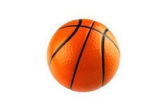 Basketball isolated on white with clipping path Royalty Free Stock Photo