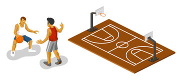 Basketball Isometric Stock Photo