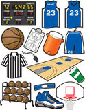 Basketball Items. Items/Equipment used in the sport of Baseball Royalty Free Stock Photos