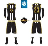 Basketball jersey, shorts, socks template for basketball club.  Royalty Free Stock Images