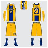 Basketball jersey, shorts, socks template for basketball club. Basketball uniform or jersey, shorts, socks template for basketball club. Front and back view Stock Images